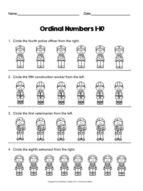 10 Famous Women in History Number Sequence 1-5 Preschool Math ...