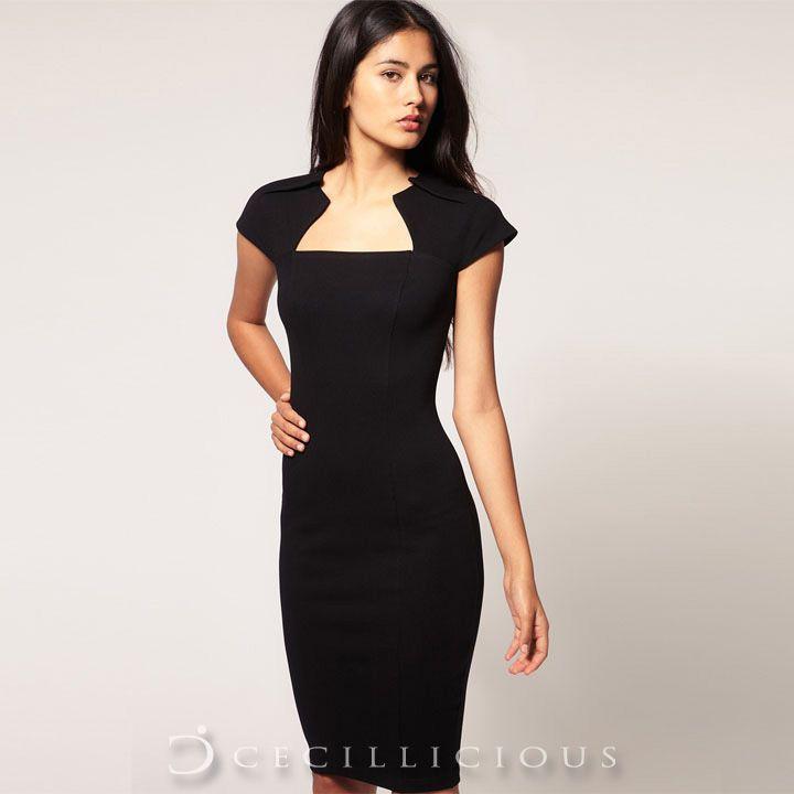 Dorothy Black Midi Dress