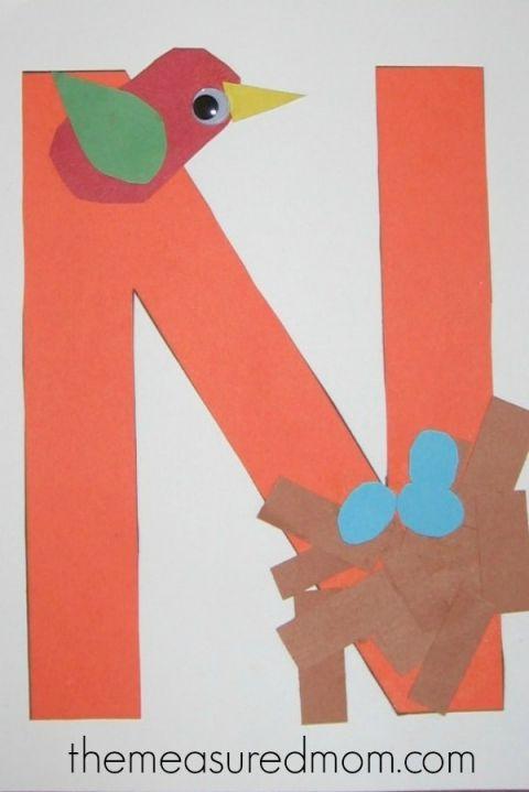 letter n crafts for preschoolers crafts nests and mom. Black Bedroom Furniture Sets. Home Design Ideas