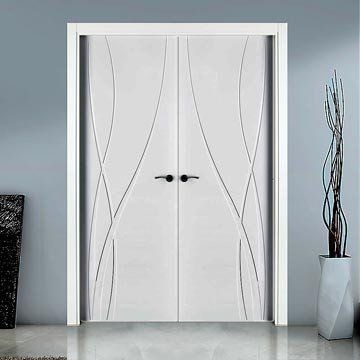 The prefinished San Rafael Lifestyle 984 Double Door with glorious flush designs, fully finished so no more decoration required. #doorpairs #directdoors