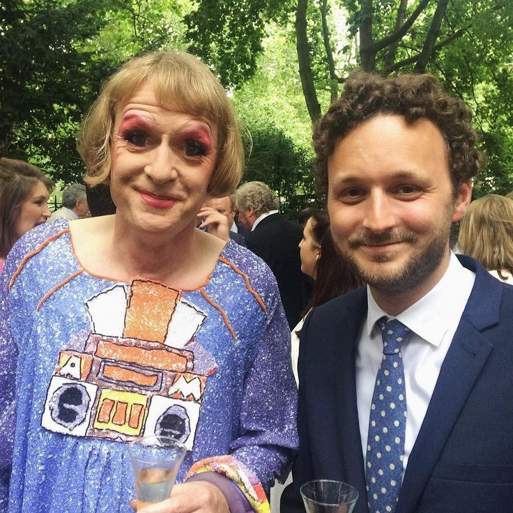 Grayson Perry with our editor Thomas Marks at the Apollo summer party. Tonight we're celebrating the relaunch of our website (http://specc.ie/1TvWQ4M) and of the new online portal Apollo Collector Services (http://specc.ie/29qPNe6)