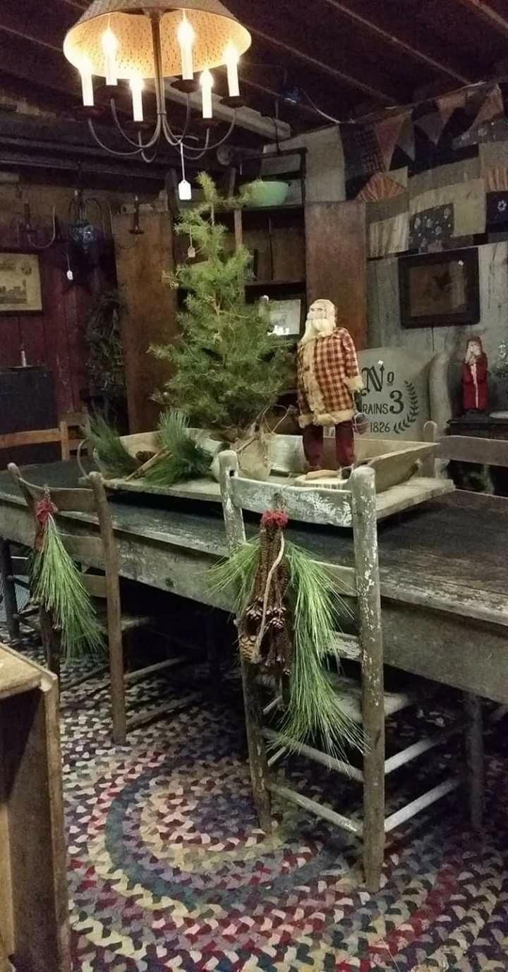 Country Primitive Decor Clearance Countryprimitive Primitivecountrydecor Primitive Christmas Decorating Primitive Christmas Tree Primitive Decorating Country