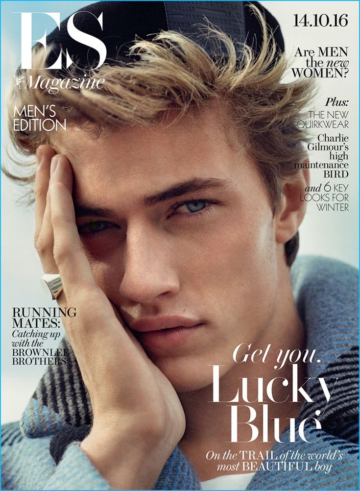 Lucky Blue Smith covers the most recent issue of ES magazine in a fall-winter 2016 look from Fendi.