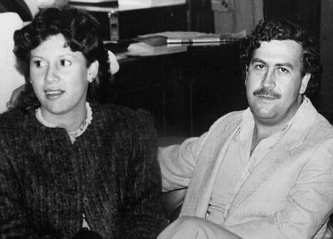 A 1983 photo of Escobar with his wife Victoria Henao the mother of Escobar's son Sebastian Marroqumn who changed his name from Juan Pablo Escobar