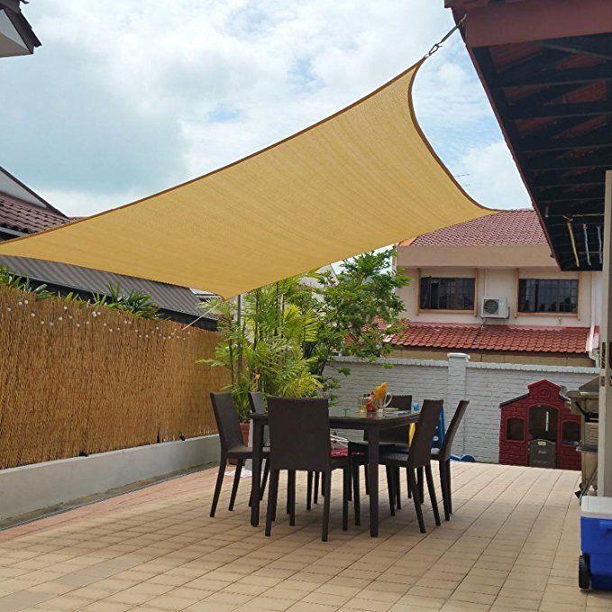 2x1 8m Sun Sailing Shade Mesh Net Garden Plants Covered Awning Waterproof Canopy Anti Uv Sun Shelter Backyard Shade Patio Shade Outdoor Shade