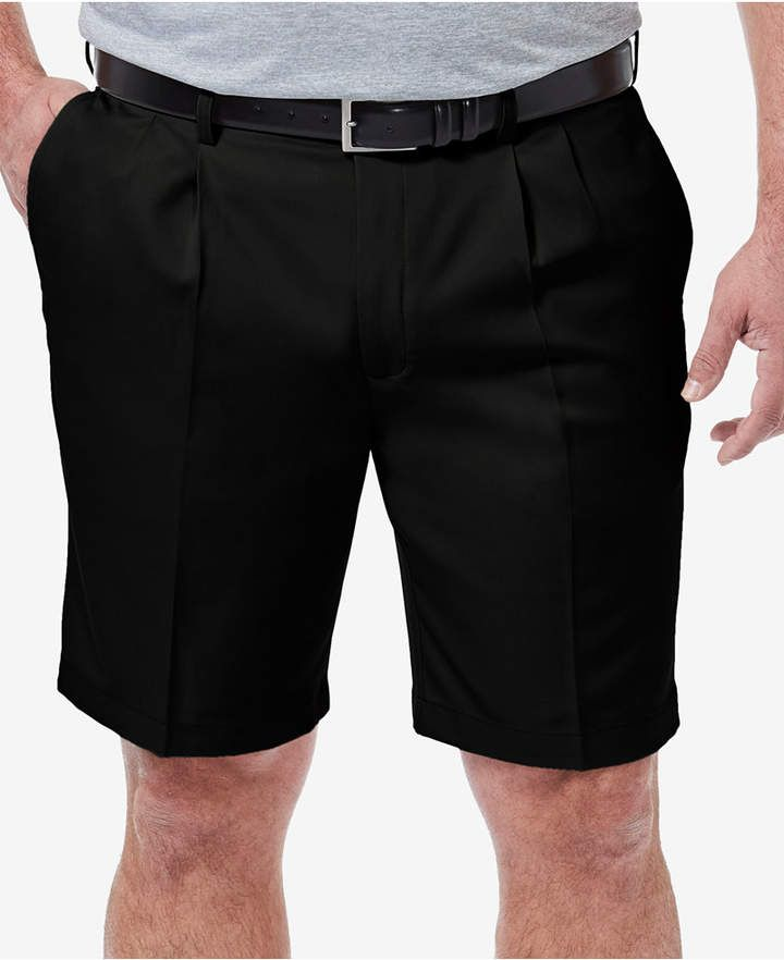 e64805ad22 Haggar Men Big & Tall Cool 18 Pro Classic-Fit Stretch Pleated 9.5