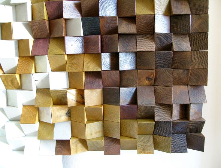 "Panel ""Jazz"", Wood wall art, Wood wall decor, 3D panel, reclaimed wood."