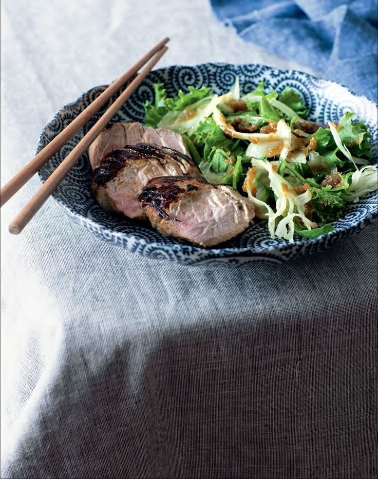 Japanese pork with onion dressing recipe by Ian Thorpe | Cooked