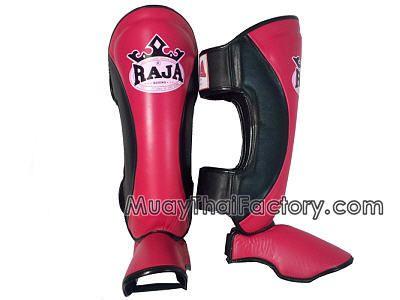 Raja Boxing RAJA Muay Thai shin guards - Pink/Black for sale.  [RJ-N-012-PKBK]
