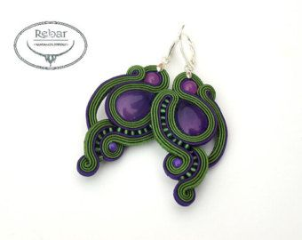 "Soutache earrings ""Fajo"""