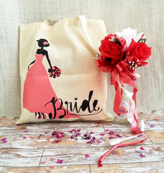 Hand Screenprinted Wedding/Hen Party Gift by GingerDoodlesDesigns