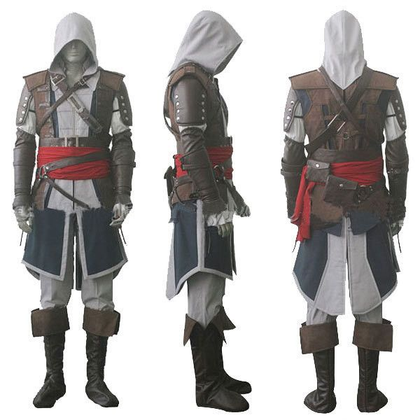 Assassin's Creed IV 4 Black Flag Edward Kenway Cosplay Costume Whole Set Custom Made
