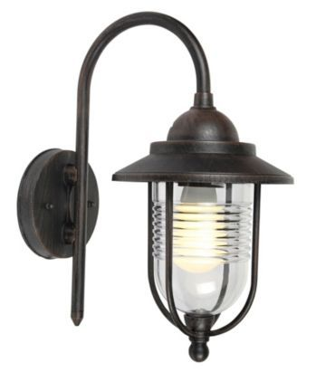 Outdoor lighting can be practical and stylish! With a dark bronze effect finish, this Marco bronze wall light creates a warm light. #lighting #outdoor
