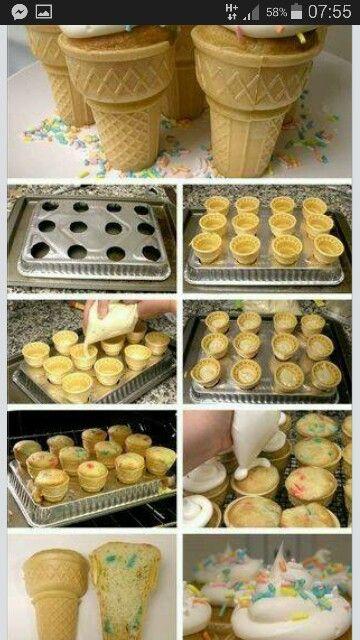 Cupcake in ñ cone