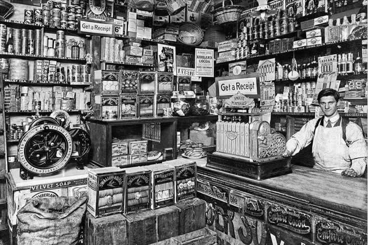Benjamin Bolton Grocery store at 87 Raglan St,Port Melbourne,Victoria in 1913. •State Library of Victoria•