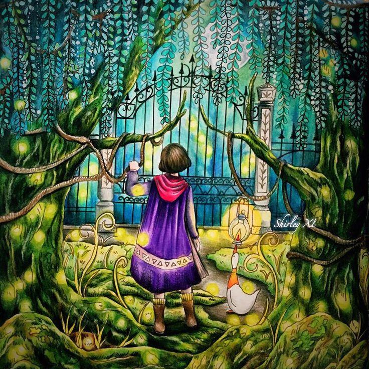 Firefliesgreen Moss And Weeping WillowWatching Video Of This Mysterious Garden