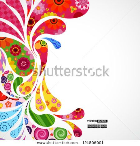 Floral And Ornamental Item Background. Stock Vector 121896901 : Shutterstock