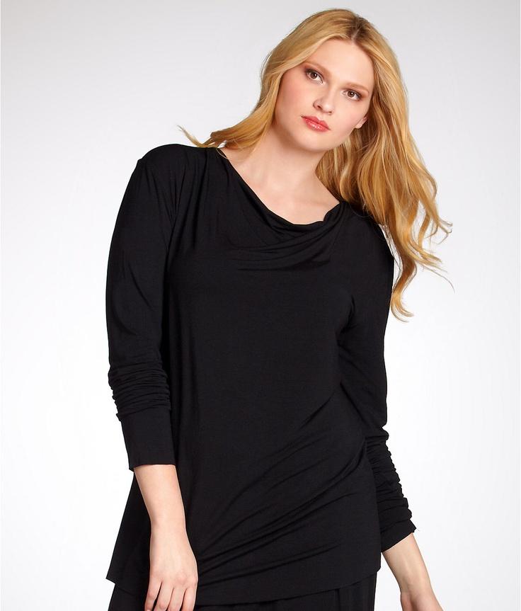 Linda Hartman Modal Cowl Neck Top Plus Size Sleepwear 94343W at BareNecessities.com on sale 44.99