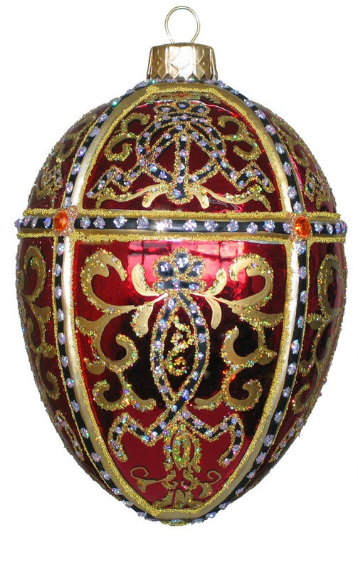 Edward Bar Oriental Egg Red Christmas Ornament Handmade Christmas  $45.00 on eBay