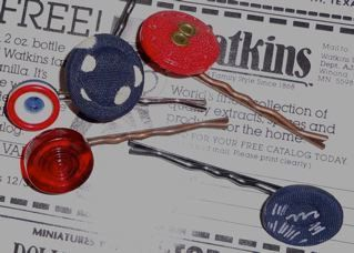 Red Blue & Polka dot Hand Made Recycled Vintage by thineintime, $12.00
