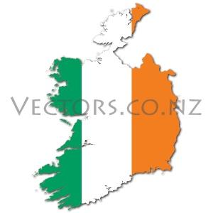 Flag Vector Map of Ireland