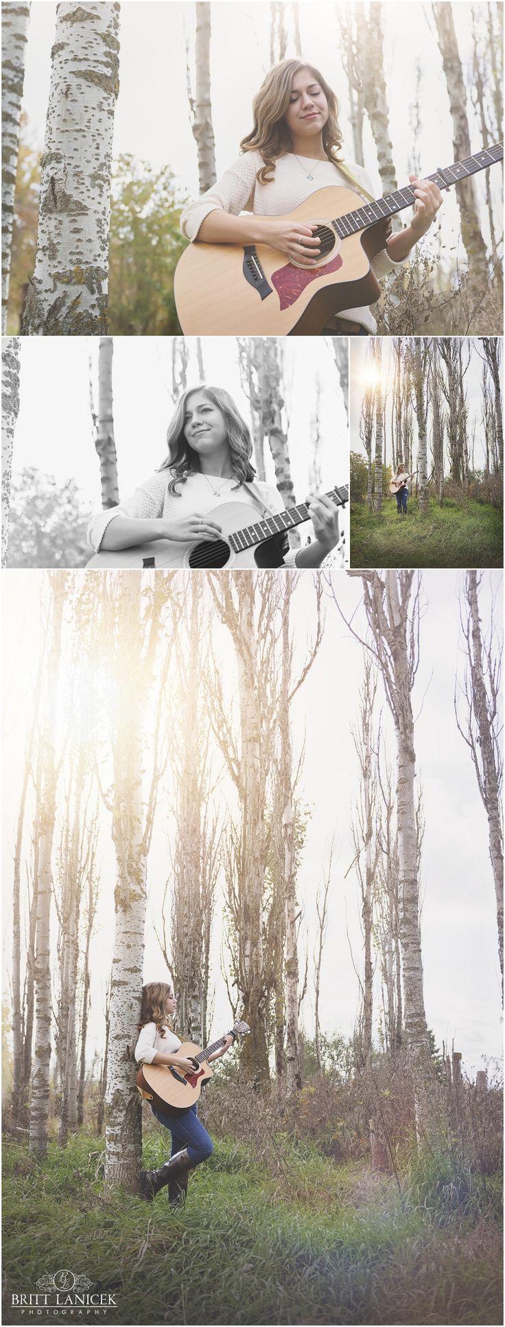 Senior Pictures with Guitar in Fremont Ohio