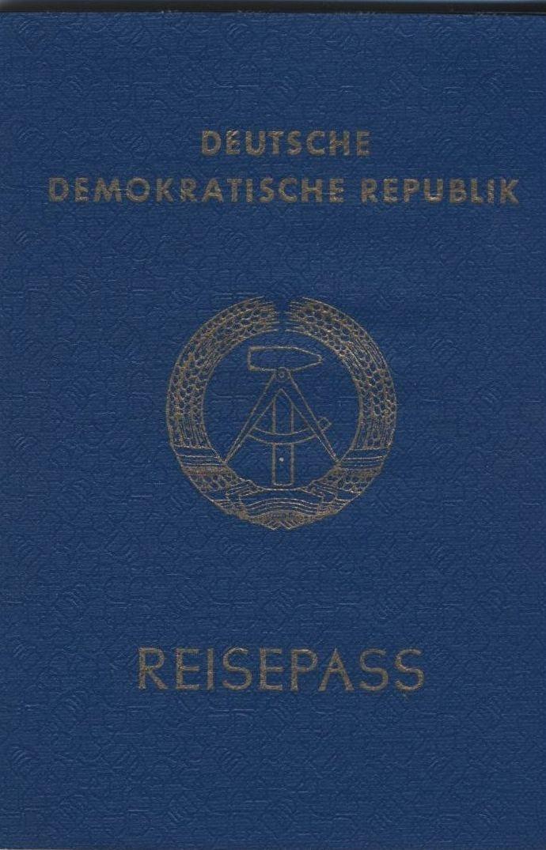 DDR Reisepass, hatte ich auch noch, kurze Zeit