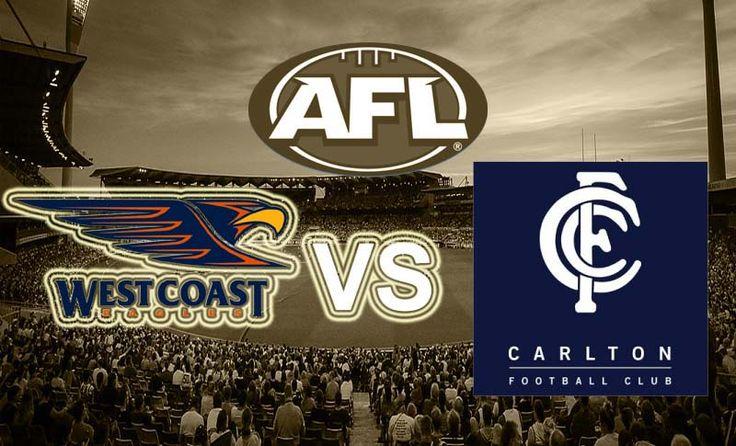West Coast v Carlton AFL