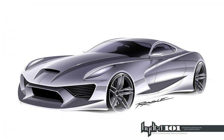 Supercar design sketch by Gary Ragle