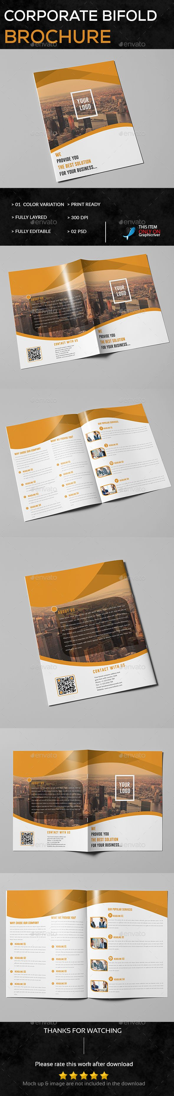 Corporate Trifold Brochure Template PSD