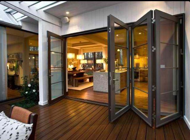 Folding doors tussen 2 kamers