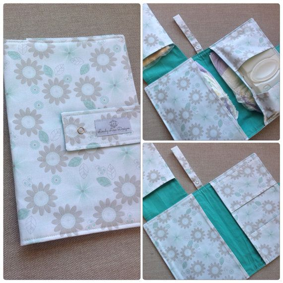 Nappy wallet with wipes and flip pocket holds upto 5 nappies