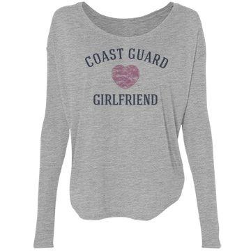 Coast guard girlfriend | Trendy custom top for a coast guard girlfriend.