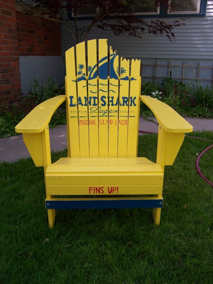 Landshark lager jimmy buffett margaritaville adirondack - Adirondack style bedroom furniture ...