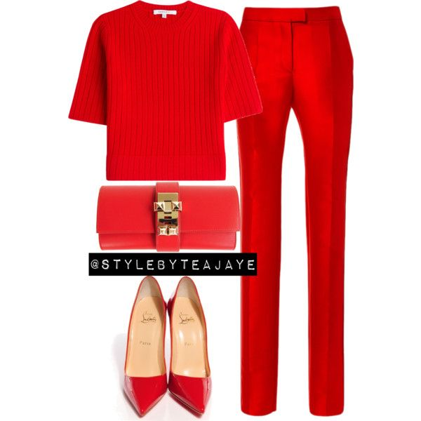 A fashion look from September 2015 by stylebyteajaye featuring Carven, Preen, Christian Louboutin and Hermès