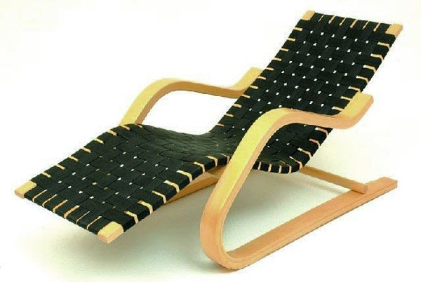 48 best sculptural bent wood furniture images on pinterest for Alvar aalto chaise lounge