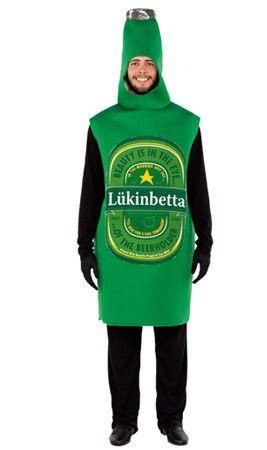 Disfraz de Cerveza Verde adulto
