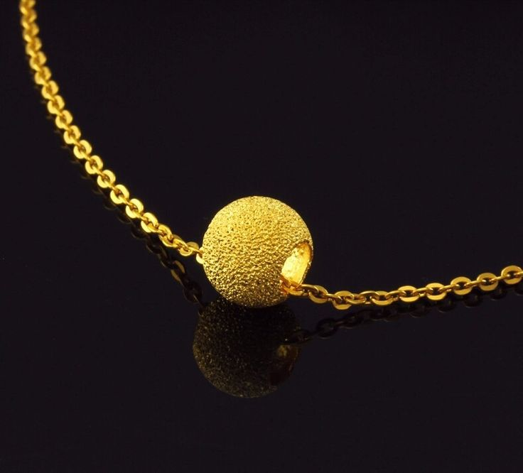 999 24K Yellow Gold Sandstone Beads For Necklace Pendant Or Bracelet 1.05g