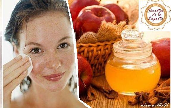 Limpiador facial de vinagre de manzana