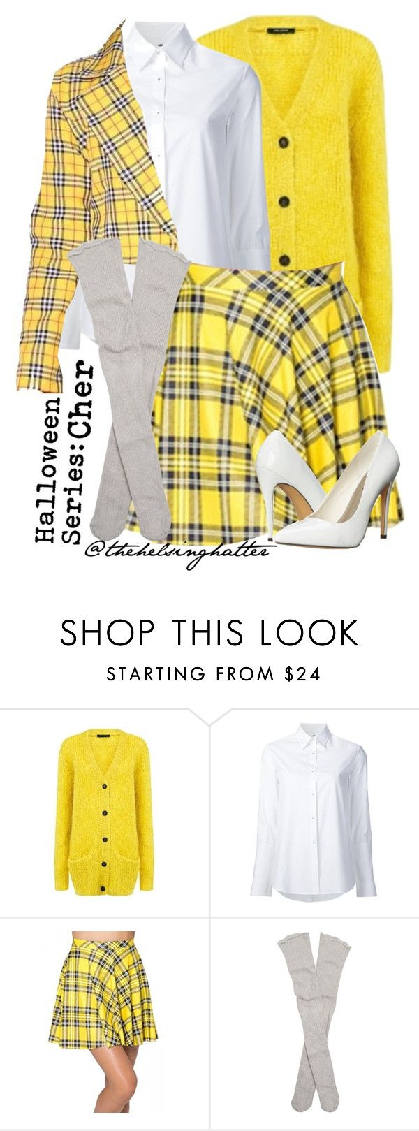 """Costumes// Cher (from Clueless)"" by thehelsinghatter ❤ liked on Polyvore featuring Pink Tartan, Misha Nonoo, Free People and Michael Antonio"