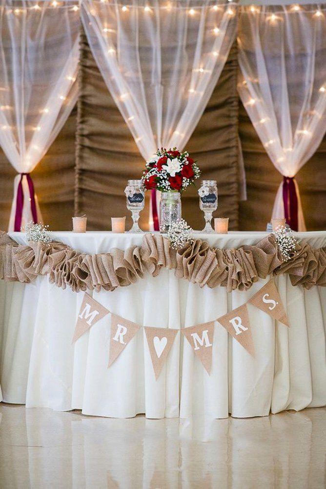 30 Rustic Burlap Lace Wedding Decor Ideas Wedding Forward Burlap Wedding Decorations Diy Wedding Decorations Burlap Lace Wedding