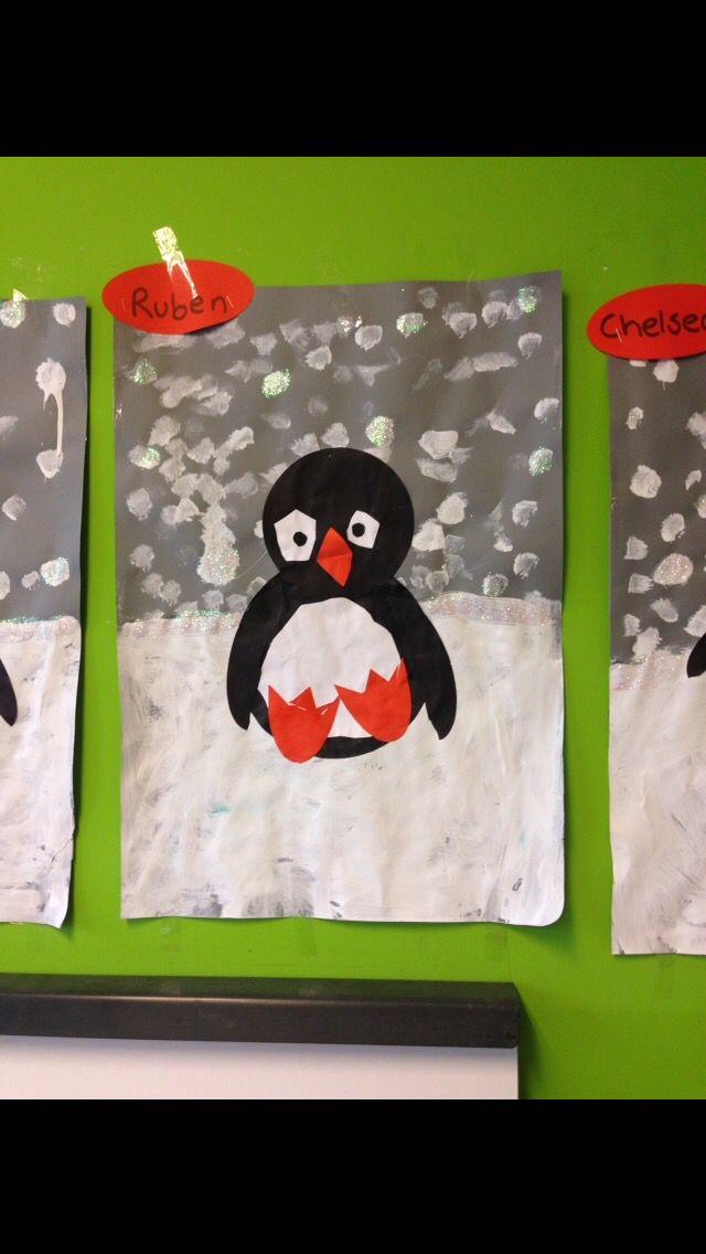 Pinguin knutselen.