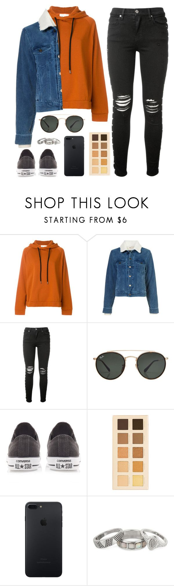 """given"" by lola-styleson on Polyvore featuring 8PM, Yves Saint Laurent, AMIRI, Ray-Ban, Converse, LORAC and Matthew Williamson"