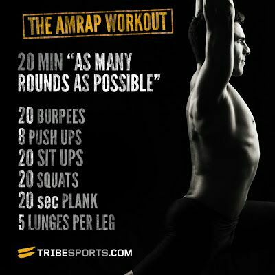 The AMRAP Workout, at home.