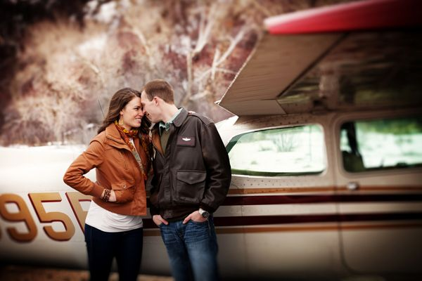 My Love of Small Airplanes + This Adorable Utah Airport Engagement Session | Fab You Bliss