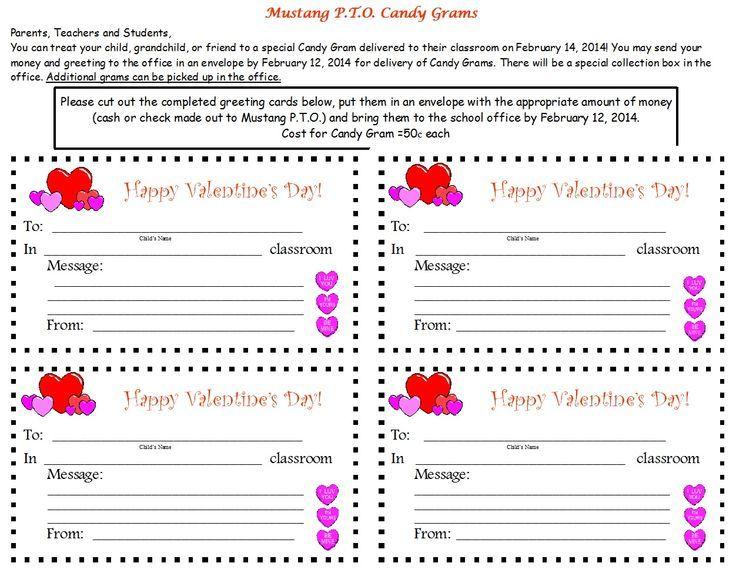 Image result for valentine's gram pto fundraiser