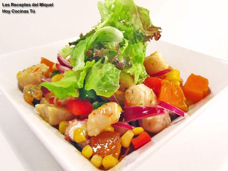 Hoy Cocinas Tú: Ceviche mixto de corvina, pulpo, langostinos y mejillones