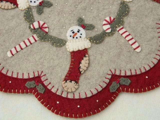 Felt Applique Christmas Tree Skirt Kits