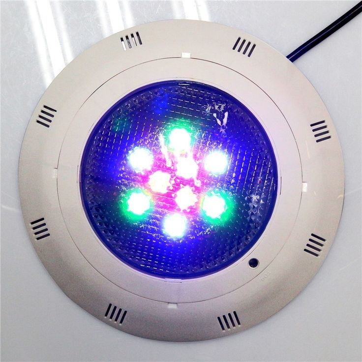 Surface mounted 9W 12V SUPER BRIGHT LED RGB Swimming Pool Underwater Light Fountain Pond Lamp with Remote Control free shipping