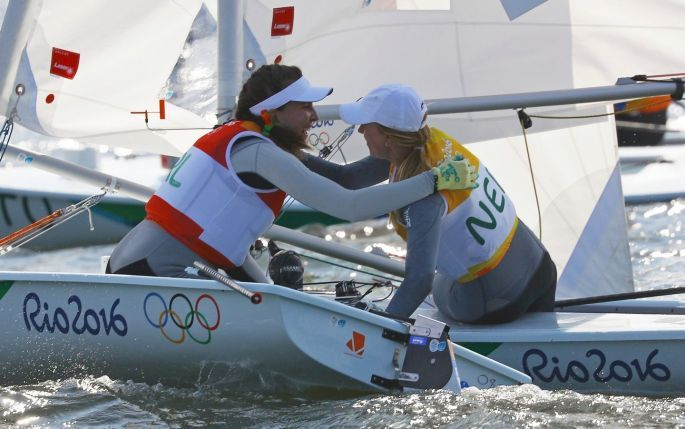 SAILING SUCCESS: Laser Radial gold medal winner Marit Bouwmeester of the…